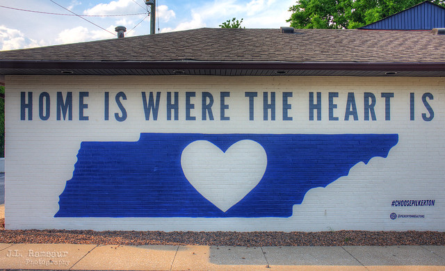 Home Is Where the Heart Is mural - South Nashville, Tennessee