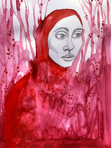 Woman in Red - Art Snacks - Jan 2020