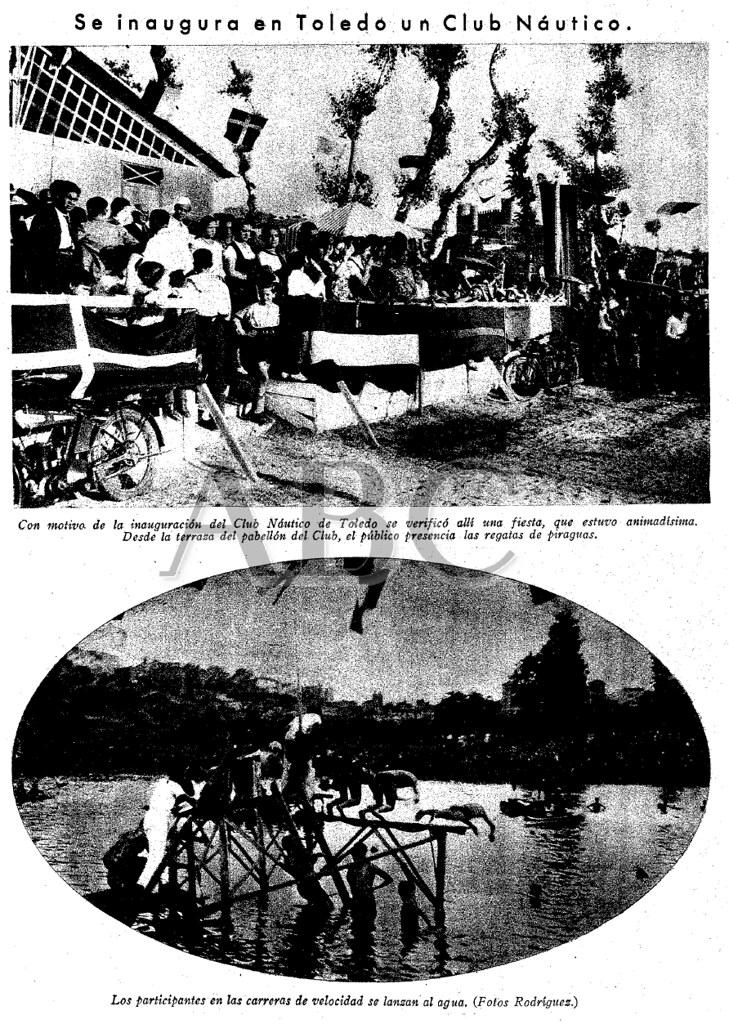 ABC 5 julio 1932, noticia y fotos de la Inauguración del Club Náutico de Toledo