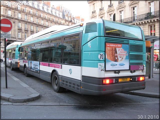 Renault Agora S GNV – RATP (Régie Autonome des Transports Parisiens) / STIF (Syndicat des Transports d'Île-de-France) n°7043