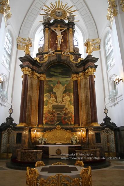 Hamburg, main church St Michaelis, Altar