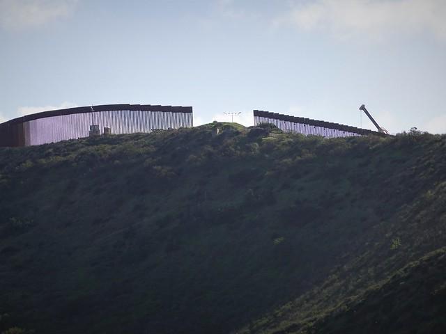 Border Wall Under Construction Near the Ocean SR602012