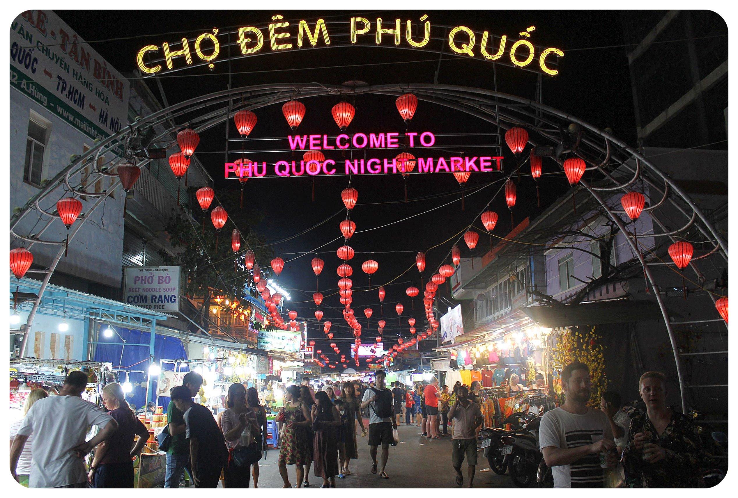 phu quoc night market cho dem
