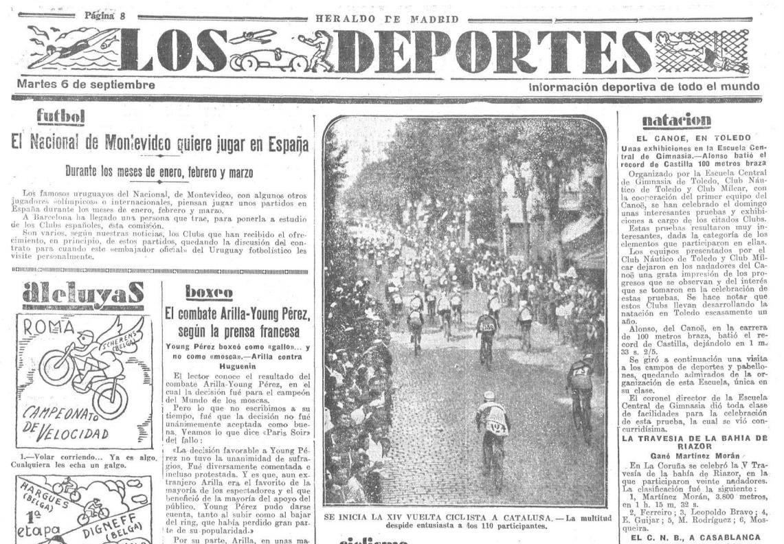 Los Deportes 6 septiembre 1932, noticia sobre el Club Náutico de Toledo y el Canoe