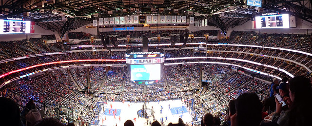 American Airlines Center Panorama, Dallas, Texas, USA