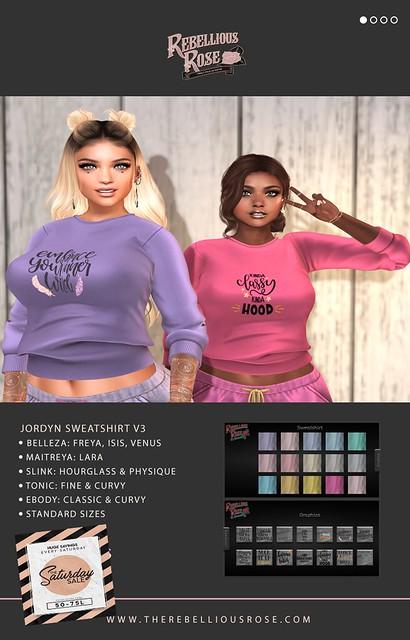 ~Rebellious Rose~ Jordyn Sweatshirt v3 - Saturday Sale