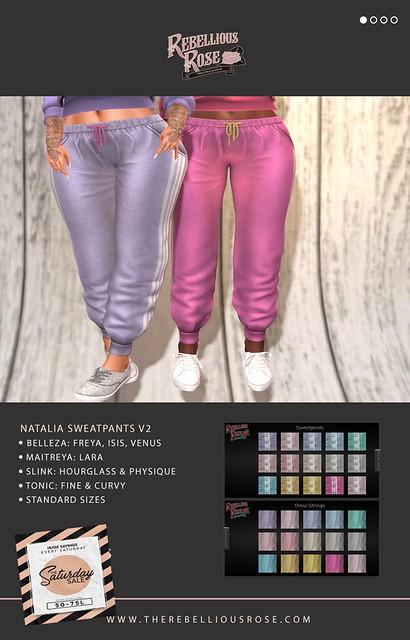 ~Rebellious Rose~ Natalia Sweatpants v2 - Saturday Sale