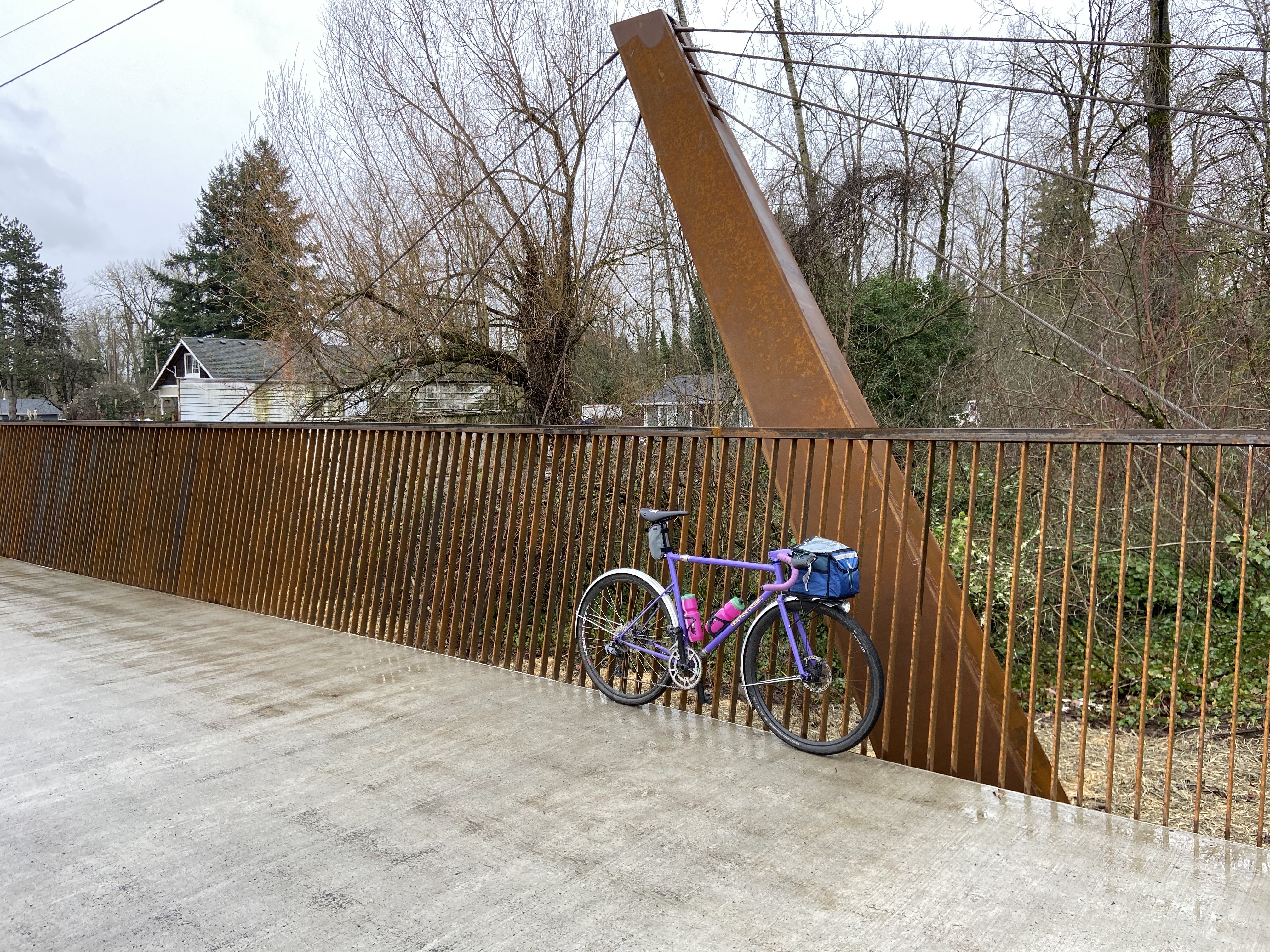 A new bridge on the Springwater Trail
