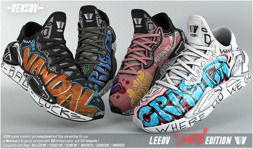 [ Versov //​ ] LEEOV LIMITED EDITION sneakers available at MAN CAVE