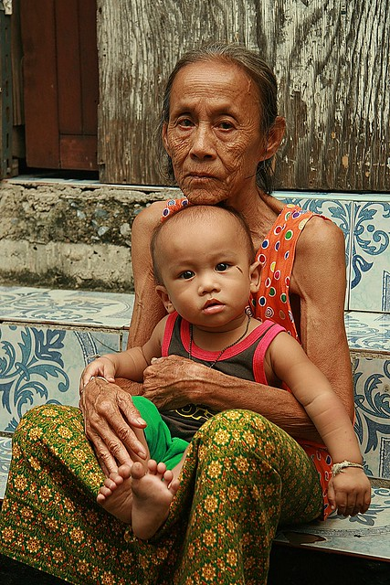 grandma with baby