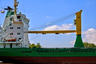 Detail des Frachtschiffs