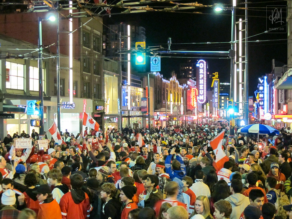Granville Street roars to life!
