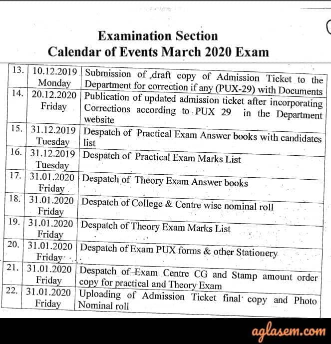 Karnataka 2nd PUC Hall Ticket 2020