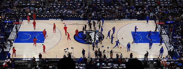 Dallas Mavericks vs Chicago Bulls Panorama, American Airlines Center, Texas, USA