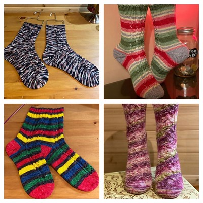 These are the socks Jen knit for Christmas gifting!