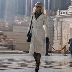 Charlize Theron White Coat