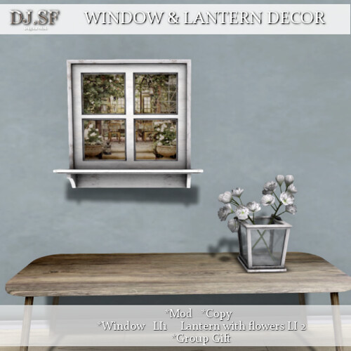 DJ.SF WINDOW AND LANTERN DECOR AD
