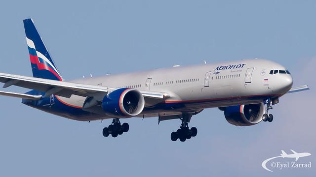 TLV - Aeroflot Boeing 777-300 VQ-BUA