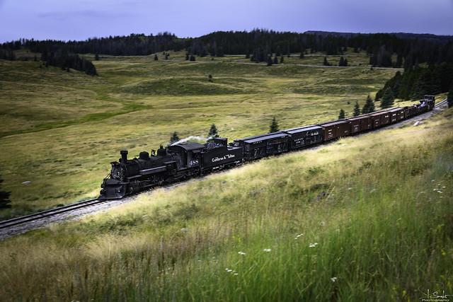 Special train with Locomotive 488 - Cumbres & Toltec Scenic Railroad Chama - New Mexico - USA