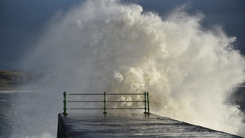 Fancy a shower? Criccieth. North Wales.