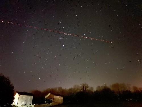 Plane crossing Orion
