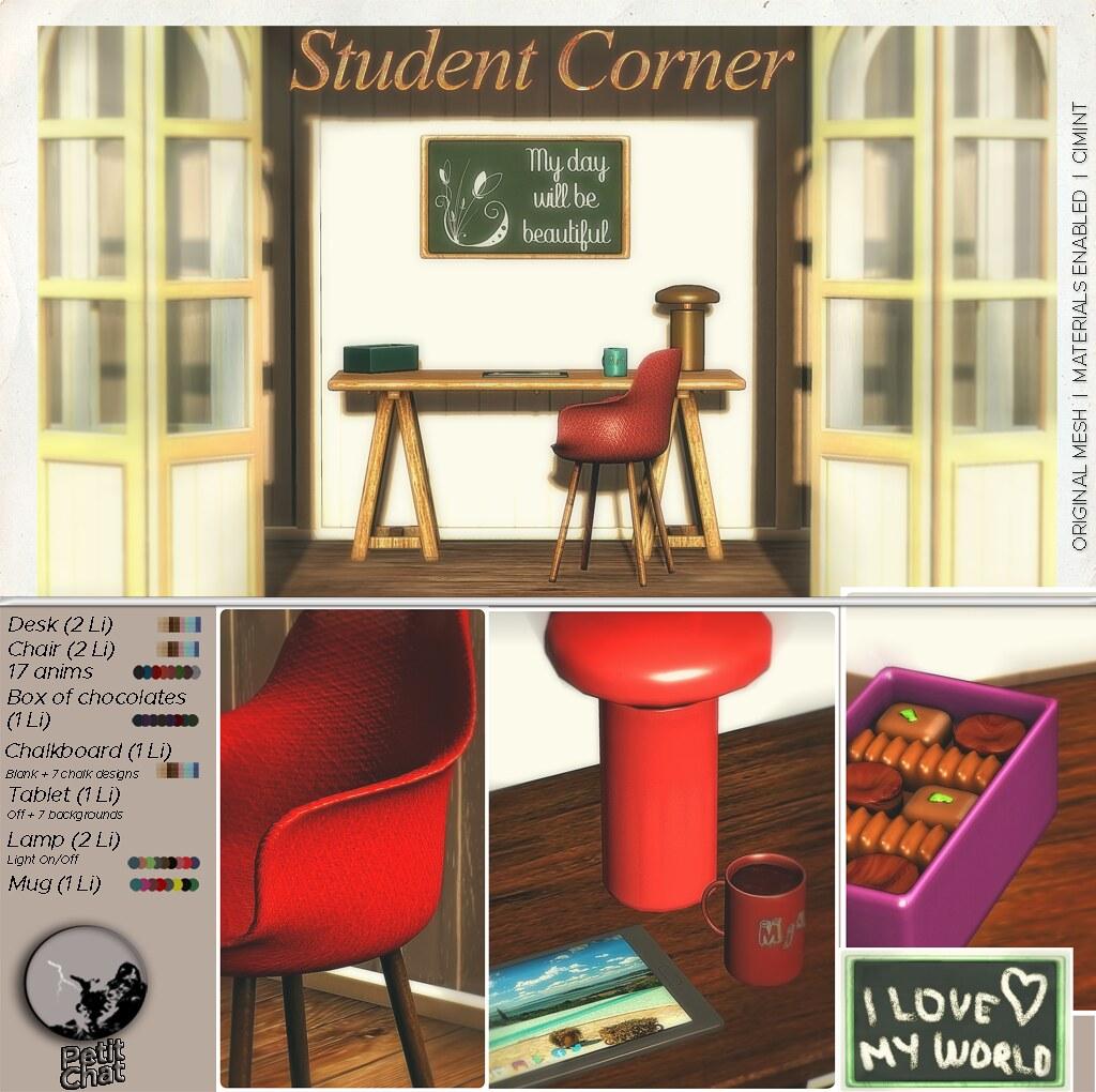 Mainstore Release : Student Corner Set