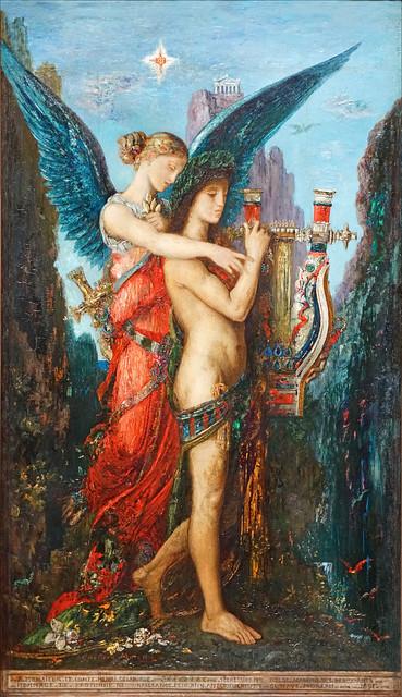 Hésiode et la Muse de Gustave Moreau (Musée d'Orsay, Paris)