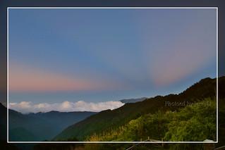 雪山夕彩 / Sunset rays @ Mt. Sylvia, 3886m 2nd highest mountain in Taiwan