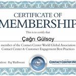 Call Center Masters olarak, ContactCenterWorld.com a üye olduk... Certificate of Membership for ContactCenterWorld.com contactcenterworld.com