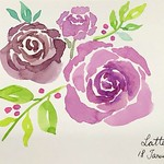 My Self-taught Watercolour Journey - More loose flowers