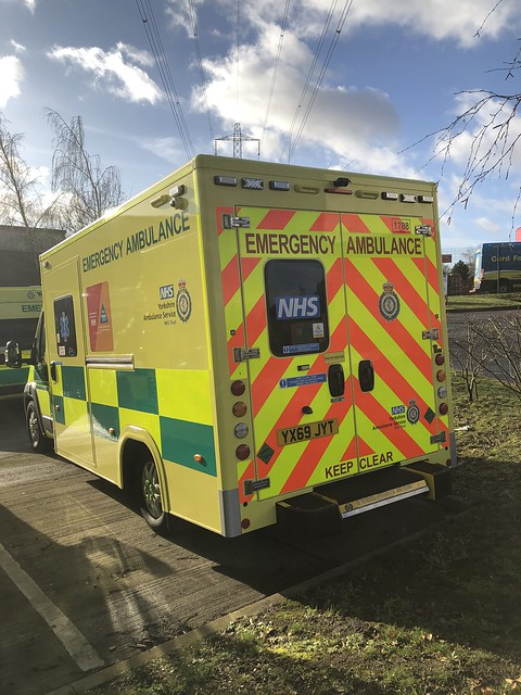 Waiting to enter service 18/01/2020 with Yorkshire Ambulance Service 1788 YX69JYT Fiat Ducato with a Wilker Emergency Ambulance body.
