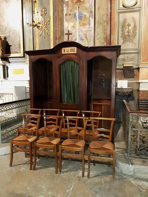 France - Provence - Alpilles - Saint Rémy de Provence - Eglise Saint-Martin - Confessionnal