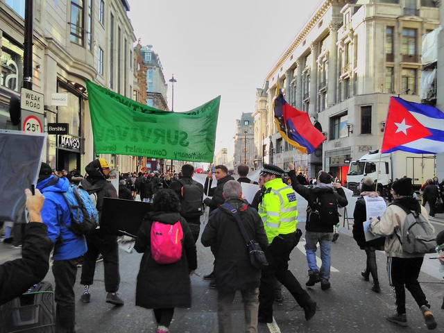 Marching Down Oxford Street