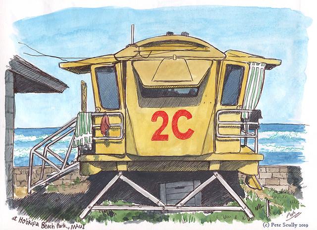 Ho'okipa Beach Lifeguard Hut Maui