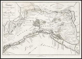 Original map scan. 7463 T Karta Venezia Carta 1838.