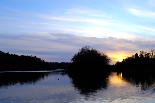 Clumber Park lake sunset (18/366)