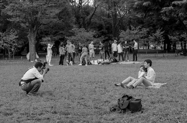 A family photo in the park - Tokyo