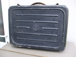 Vintage 1950's French Naval Uniform Tin Suitcase