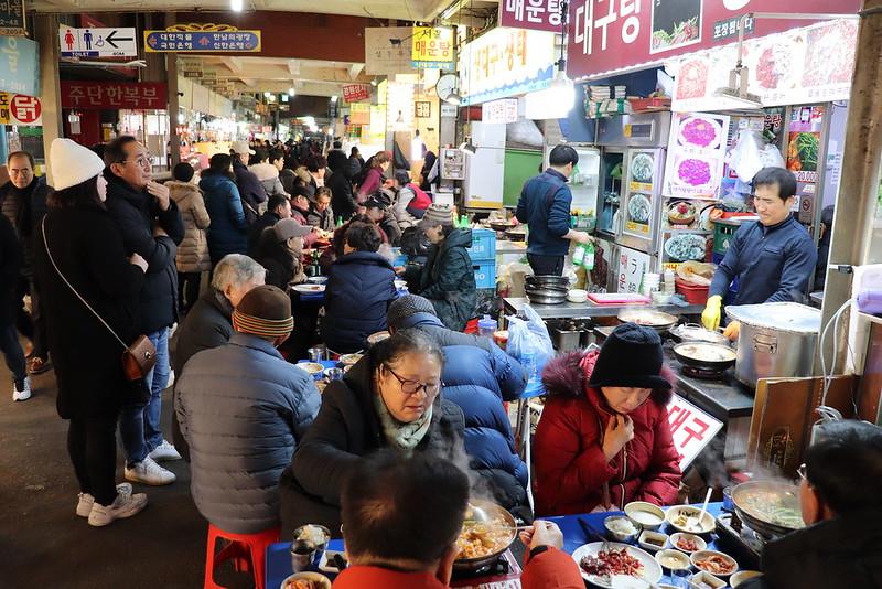 Comer en los mercados de Seúl