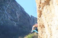 Carla rock climbing - Malibu Creek State Park