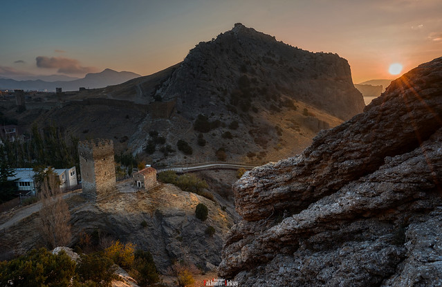 Fortress Mountain at sunrise