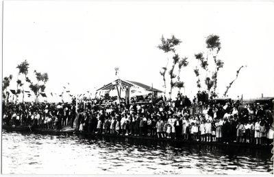 Inauguración del Club Náutico de Toledo a comienzos de julio de 1932. Fondo Rodríguez, Archivo Histórico Provincial, Junta de Comunidades de Castilla-La Mancha, signatura Album4-1372