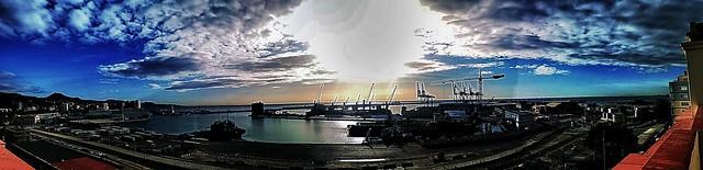 Panoràmica puerto de Málaga