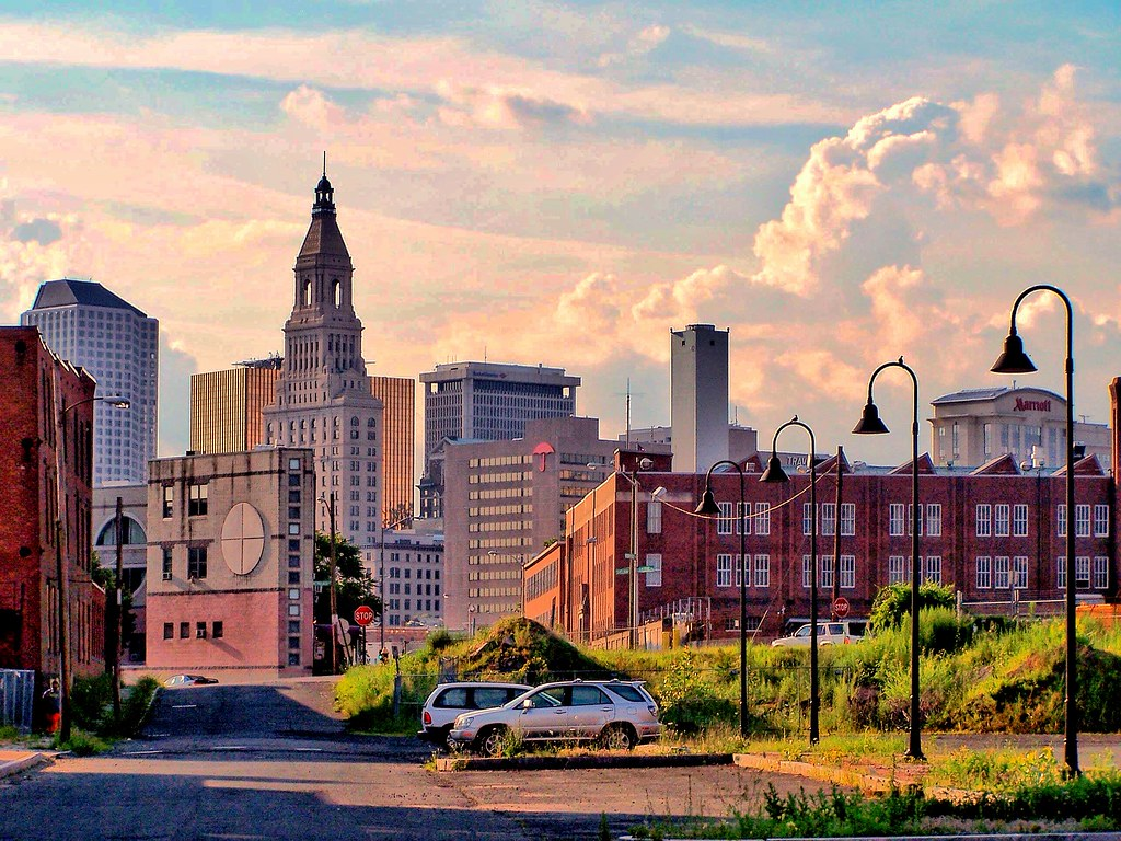 Hartford Connecticut  - View from The Former Colt Armory  -