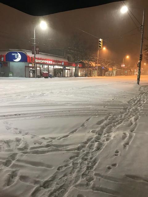 Winter Snowstorm in Vancouver