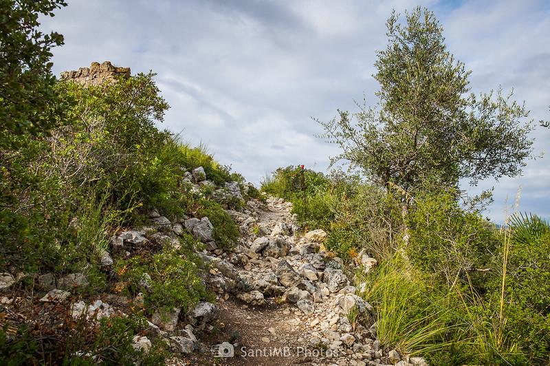Subida al Castell Vell d'Olivella