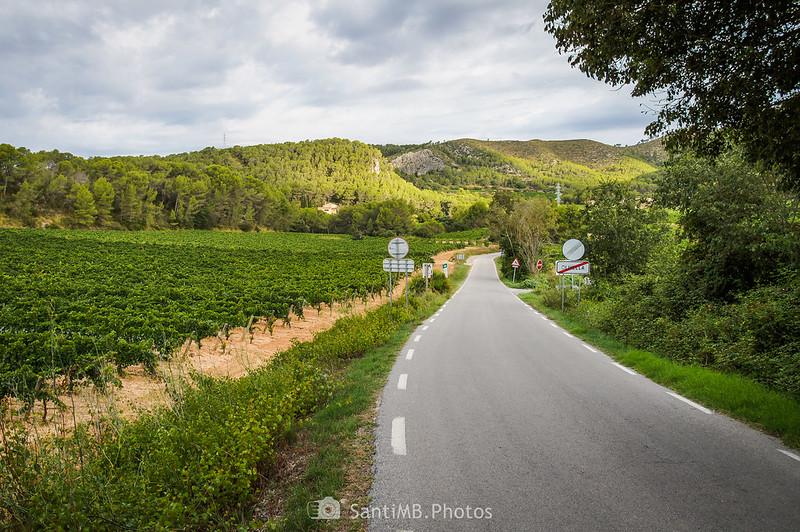 Carretera BV-2111 en Olivella