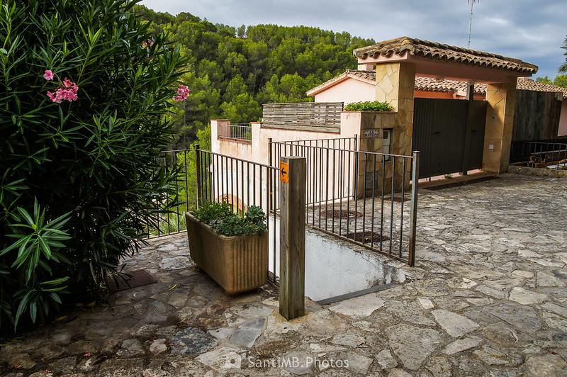 Escalera en el Carrer Sant Isidre de Olivella