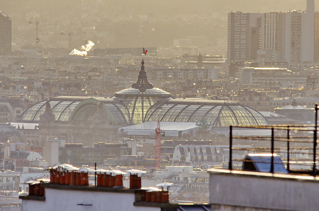 127 Paris Janvier 2020 - les toits de Paris depuis la Butte Montmartre, le Grand Palais
