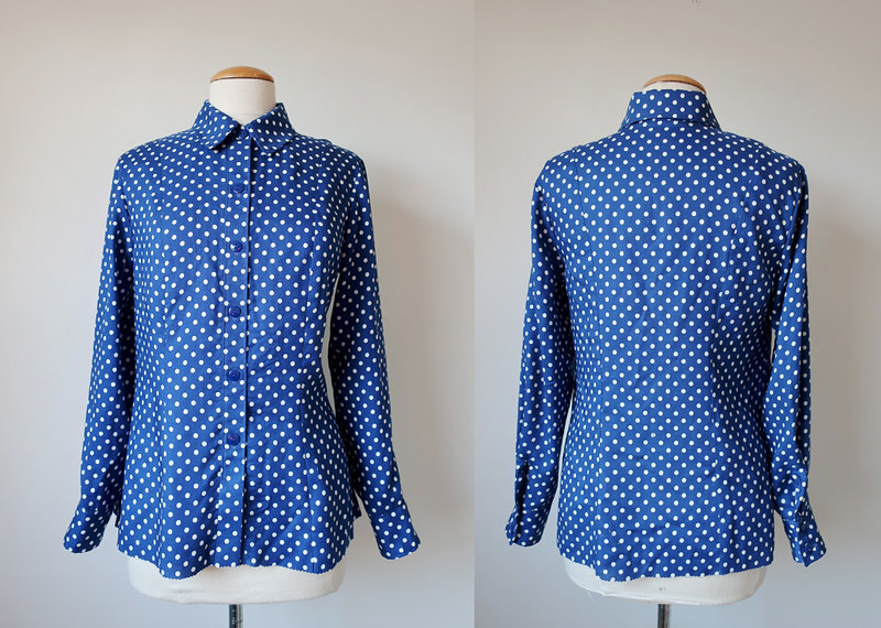 Dot shirt front and back on form
